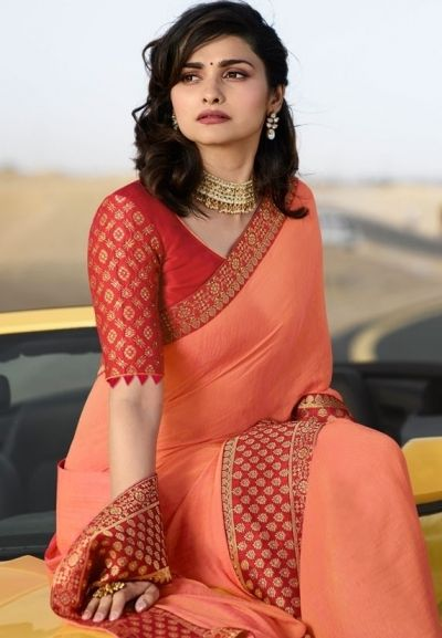 Blouse Designs For Pattu Silk Sarees (142)