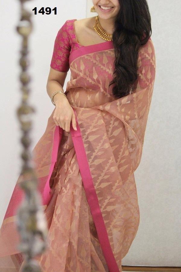 Blouse Designs For Pattu Silk Sarees (143)