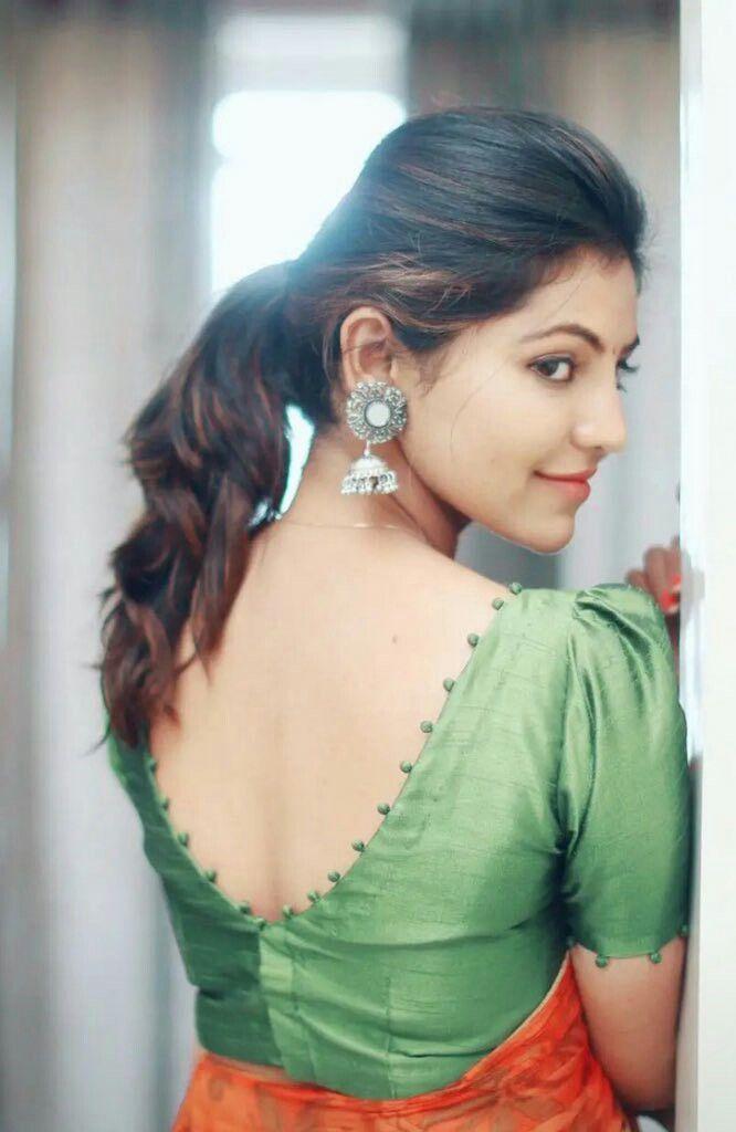 Blouse Designs For Pattu Silk Sarees (144)