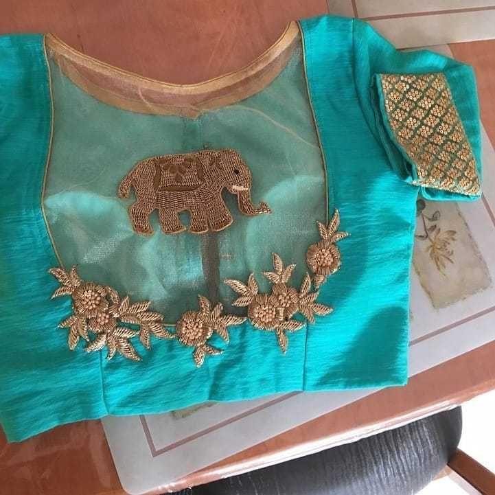 Blouse Designs For Pattu Silk Sarees (145)