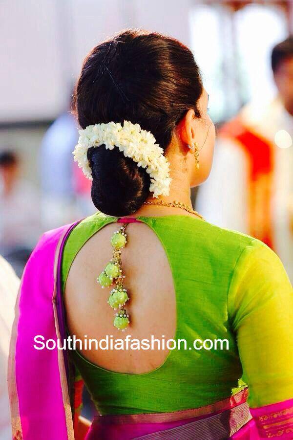 Blouse Designs For Pattu Silk Sarees (146)