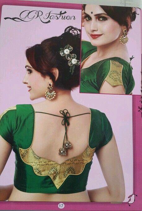 Blouse Designs For Pattu Silk Sarees (147)