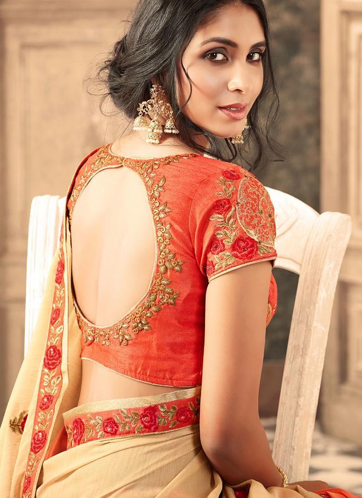 Blouse Designs For Pattu Silk Sarees (150)