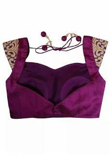 Blouse Designs For Pattu Silk Sarees (151)