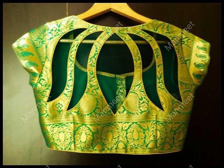 Blouse Designs For Pattu Silk Sarees (154)