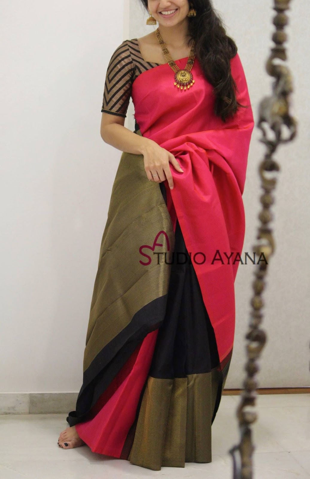 Blouse Designs For Pattu Silk Sarees (156)