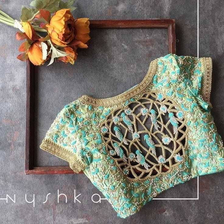 Blouse Designs For Pattu Silk Sarees (158)