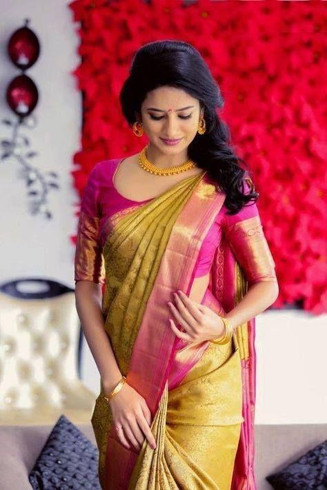 Blouse Designs For Pattu Silk Sarees (159)