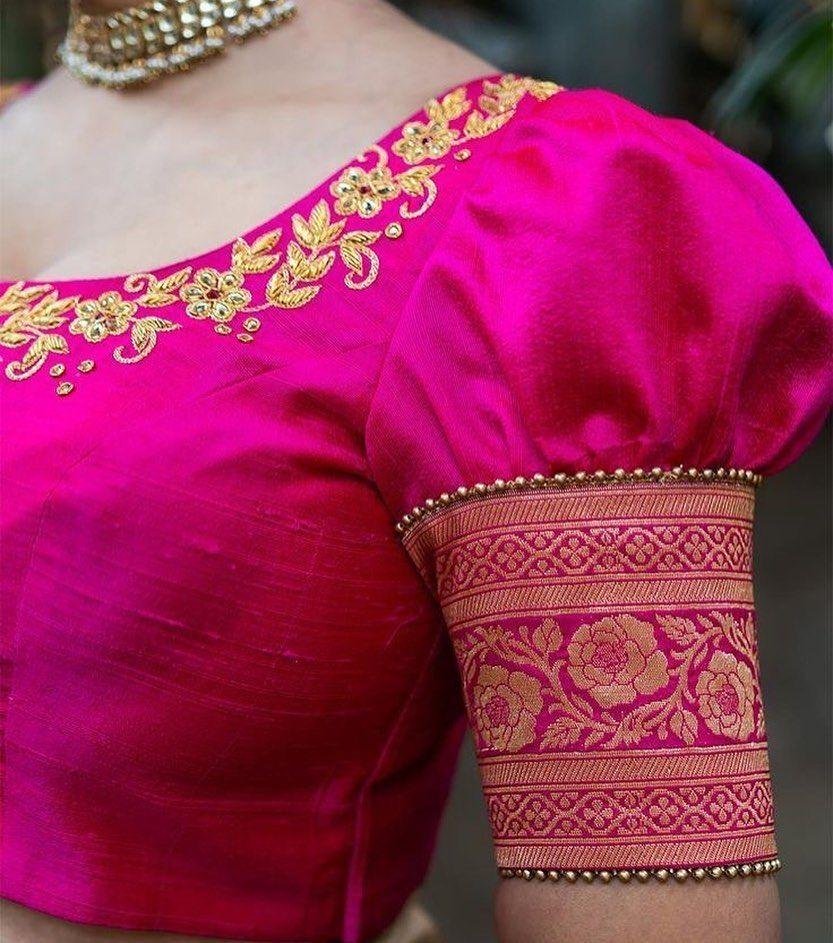 Blouse Designs For Pattu Silk Sarees (160)