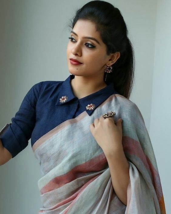 Blouse Designs For Pattu Silk Sarees (162)
