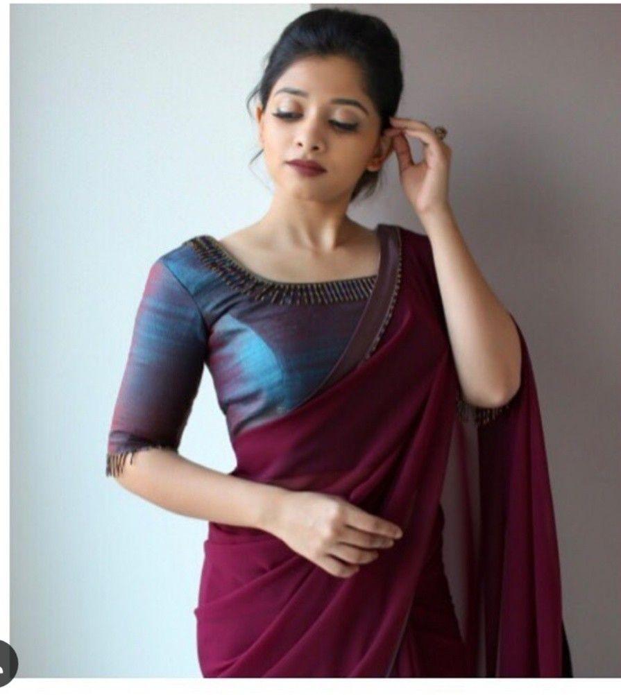 Blouse Designs For Pattu Silk Sarees (17)