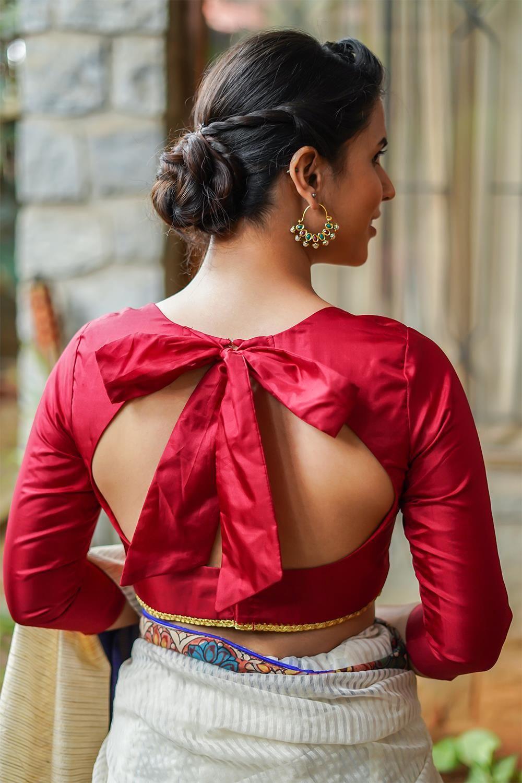 Blouse Designs For Pattu Silk Sarees (170)