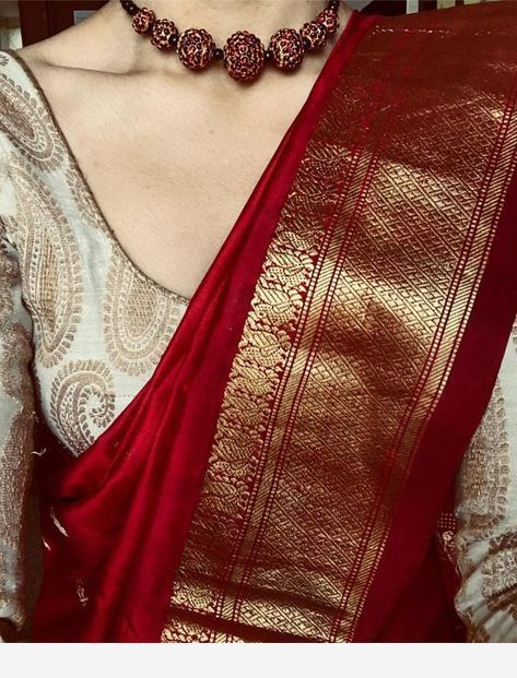 Blouse Designs For Pattu Silk Sarees (171)