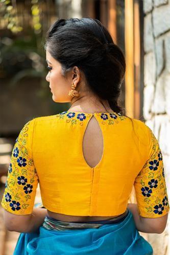 Blouse Designs For Pattu Silk Sarees (173)