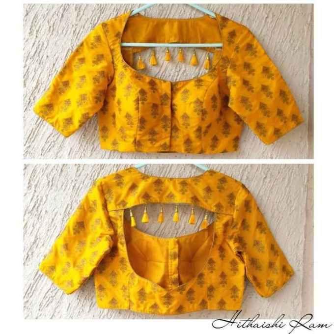 Blouse Designs For Pattu Silk Sarees (174)