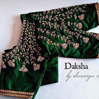 Blouse Designs For Pattu Silk Sarees (175)