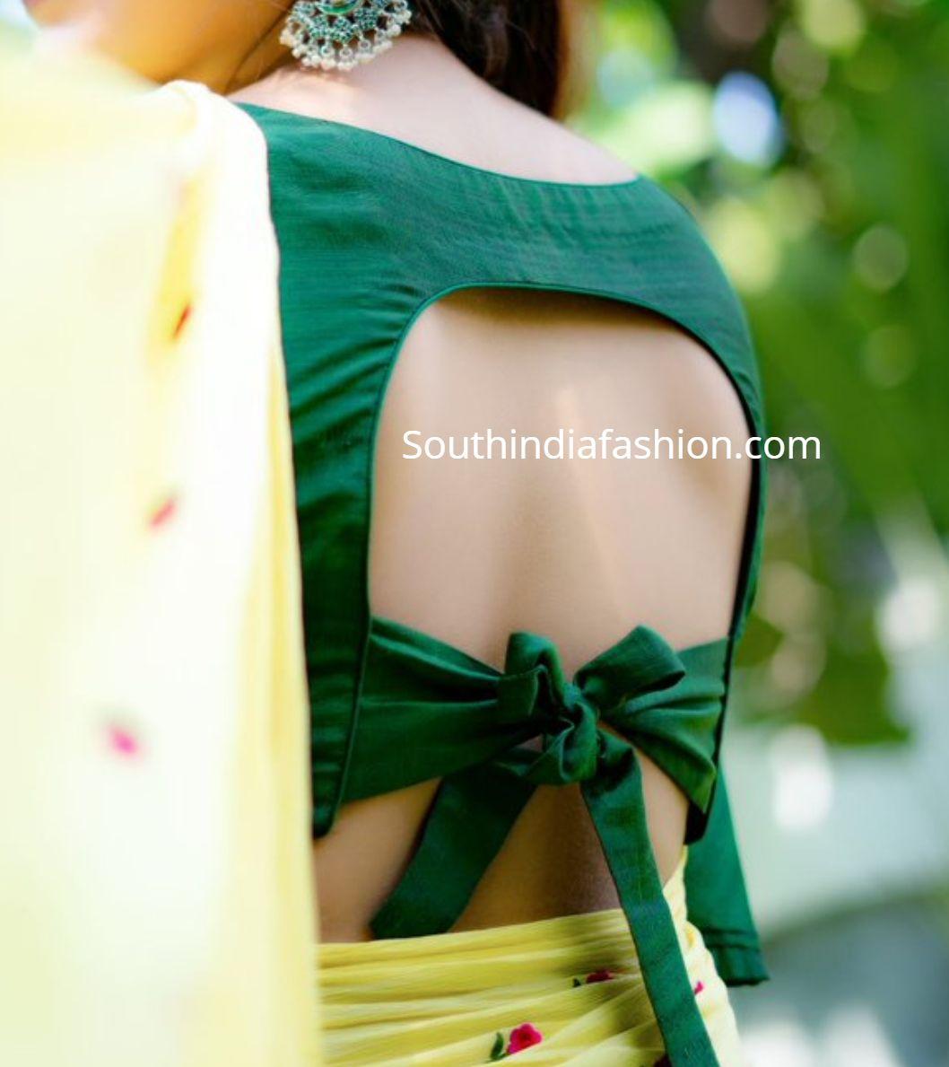 Blouse Designs For Pattu Silk Sarees (176)