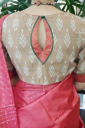 Blouse Designs For Pattu Silk Sarees (179)