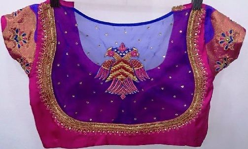 Blouse Designs For Pattu Silk Sarees (18)