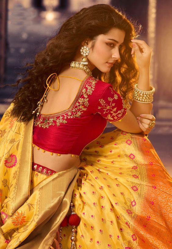 Blouse Designs For Pattu Silk Sarees (181)