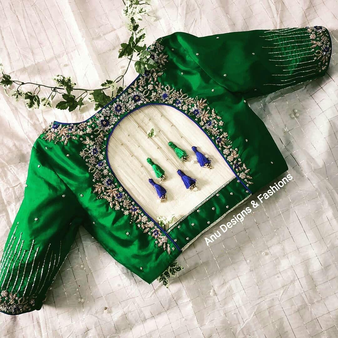Blouse Designs For Pattu Silk Sarees (183)
