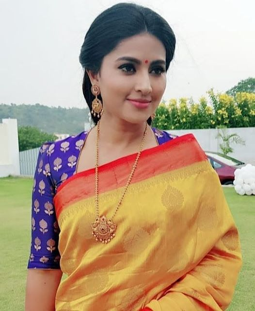 Blouse Designs For Pattu Silk Sarees (184)