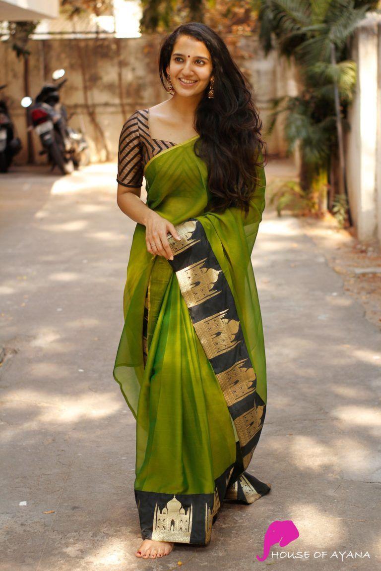 Blouse Designs For Pattu Silk Sarees (185)