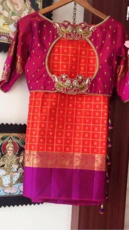 Blouse Designs For Pattu Silk Sarees (188)