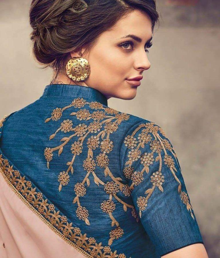 Blouse Designs For Pattu Silk Sarees (19)