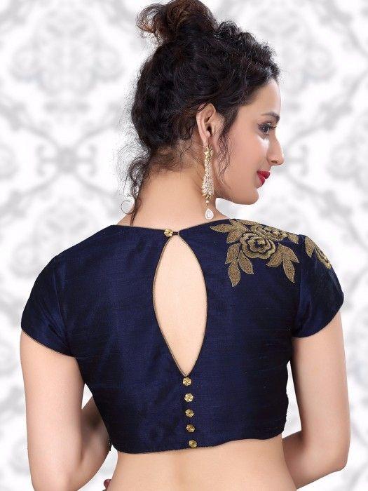 Blouse Designs For Pattu Silk Sarees (190)