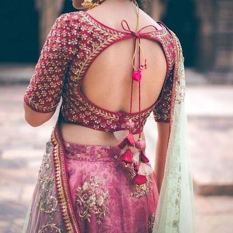 Blouse Designs For Pattu Silk Sarees (192)