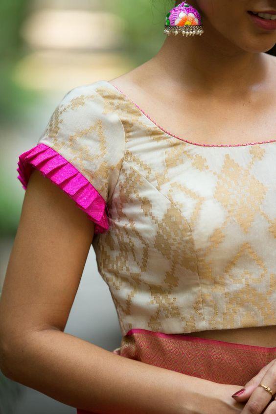 Blouse Designs For Pattu Silk Sarees (197)
