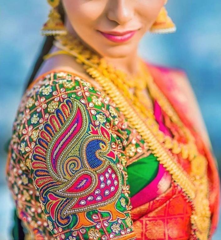 Blouse Designs For Pattu Silk Sarees (198)