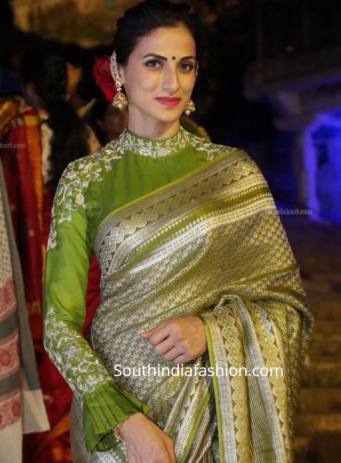 Blouse Designs For Pattu Silk Sarees (200)