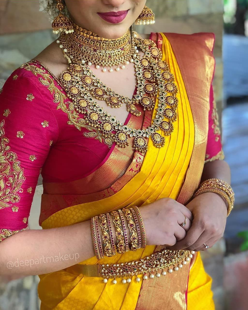 Blouse Designs For Pattu Silk Sarees (202)