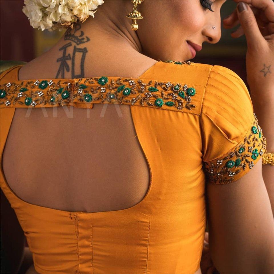 Blouse Designs For Pattu Silk Sarees (204)