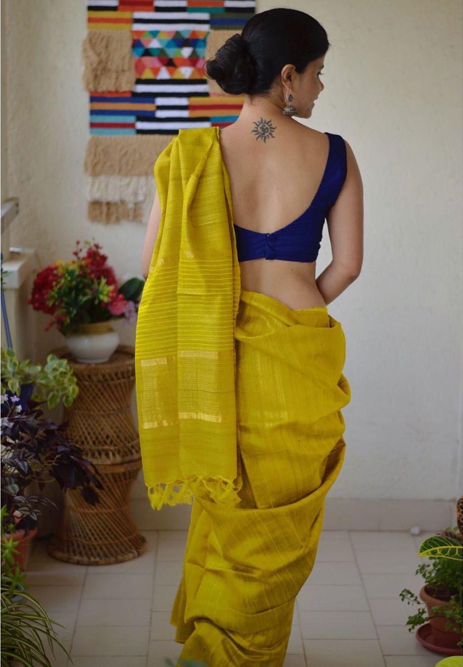 Blouse Designs For Pattu Silk Sarees (205)