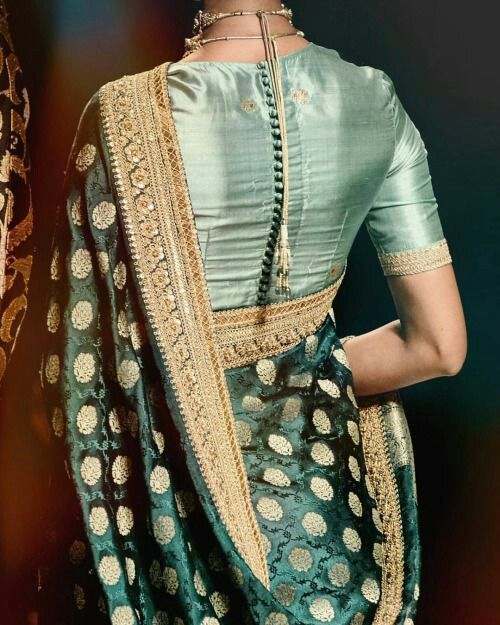 Blouse Designs For Pattu Silk Sarees (206)