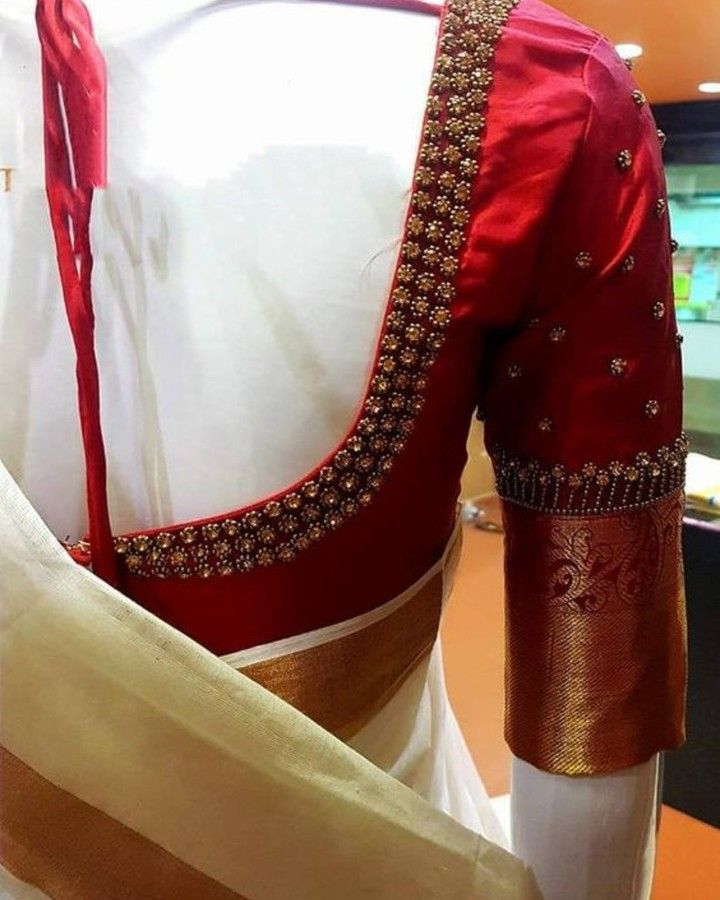 Blouse Designs For Pattu Silk Sarees (207)