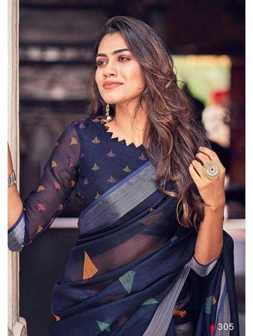 Blouse Designs For Pattu Silk Sarees (208)