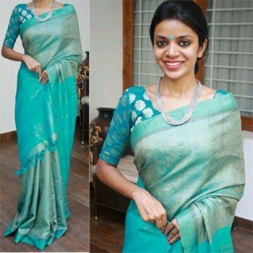 Blouse Designs For Pattu Silk Sarees (209)