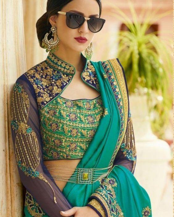 Blouse Designs For Pattu Silk Sarees (21)