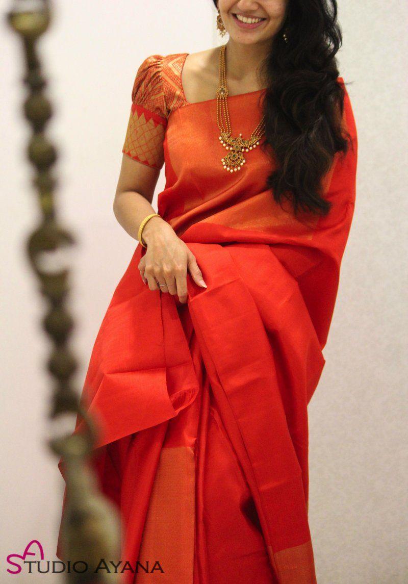 Blouse Designs For Pattu Silk Sarees (216)