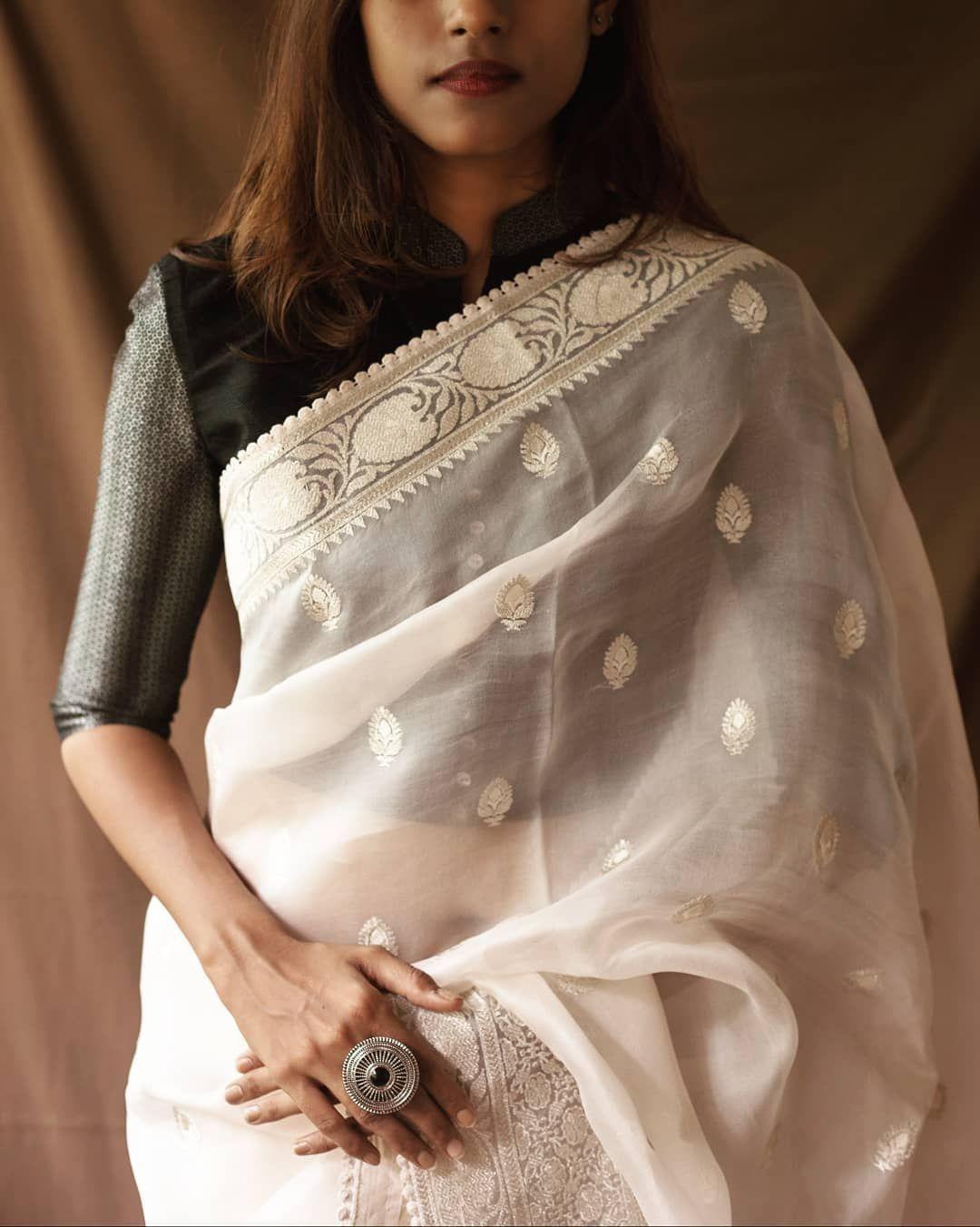 Blouse Designs For Pattu Silk Sarees (22)