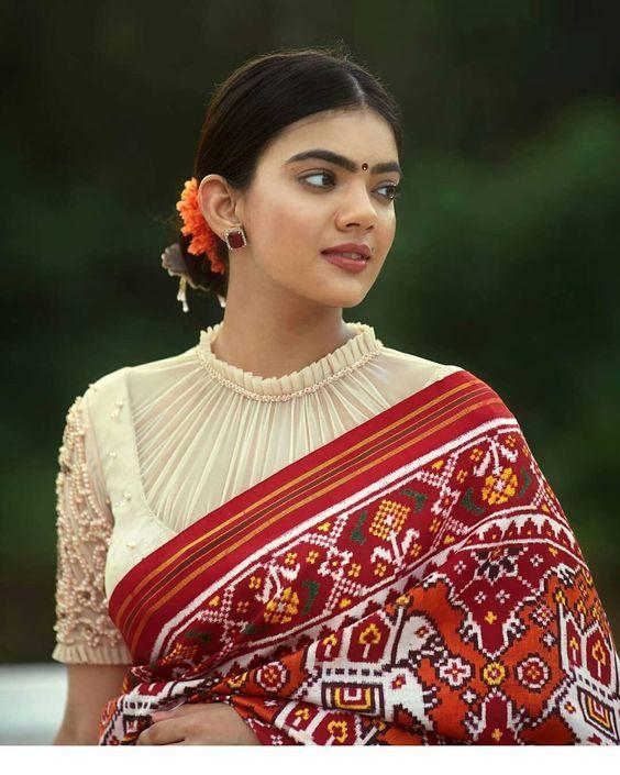 Blouse Designs For Pattu Silk Sarees (220)