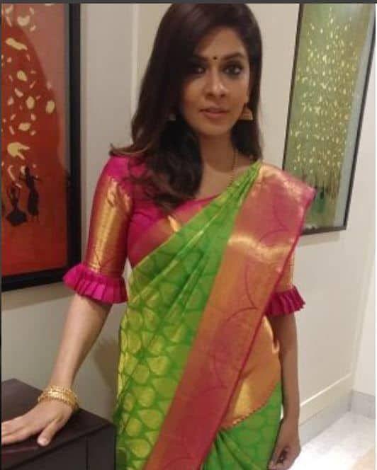 Blouse Designs For Pattu Silk Sarees (221)