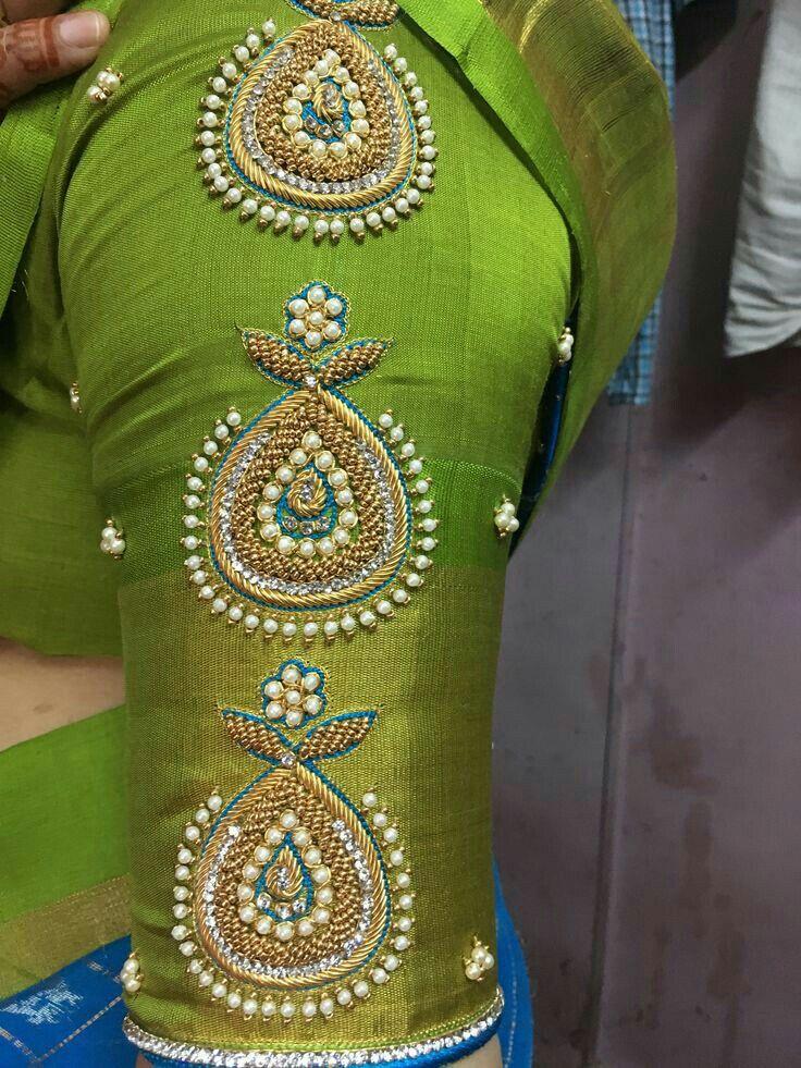 Blouse Designs For Pattu Silk Sarees (222)