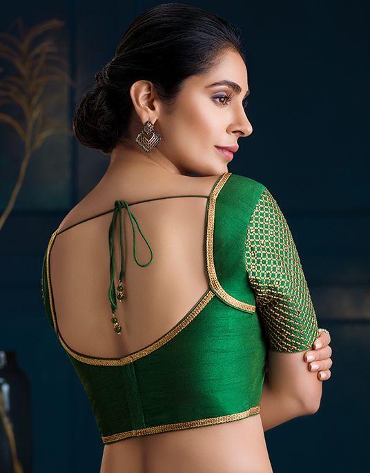 Blouse Designs For Pattu Silk Sarees (224)