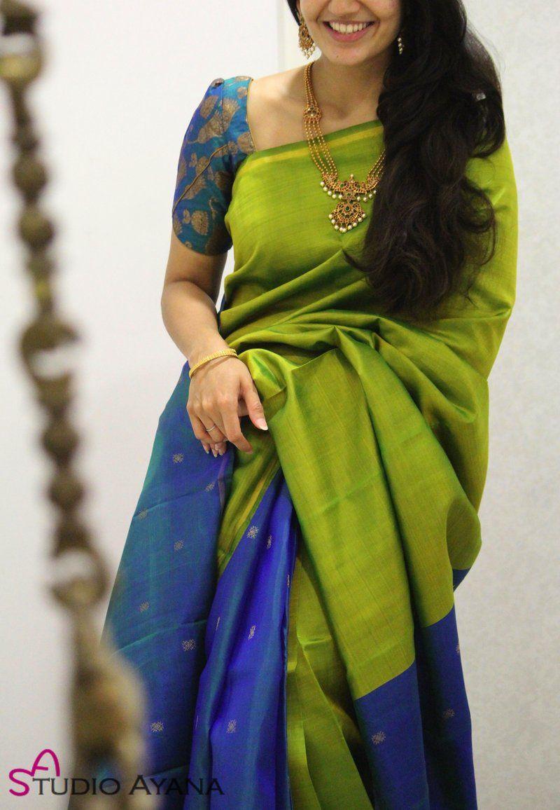 Blouse Designs For Pattu Silk Sarees (225)