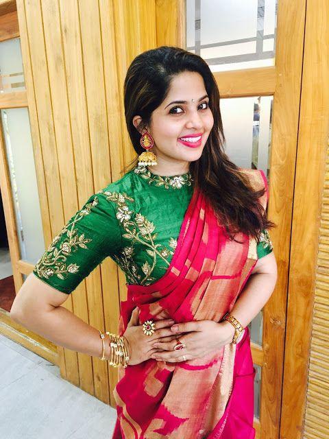 Blouse Designs For Pattu Silk Sarees (226)